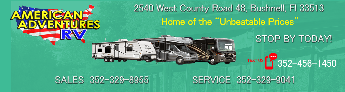 American Adventures RV Bushnell FL - RV Sales and Service
